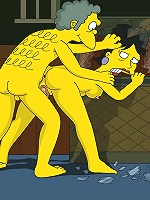 Simpsons babe gang raped hard in all holes.