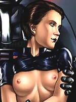 Virgin Princess Leia getting boned by Chewbacca